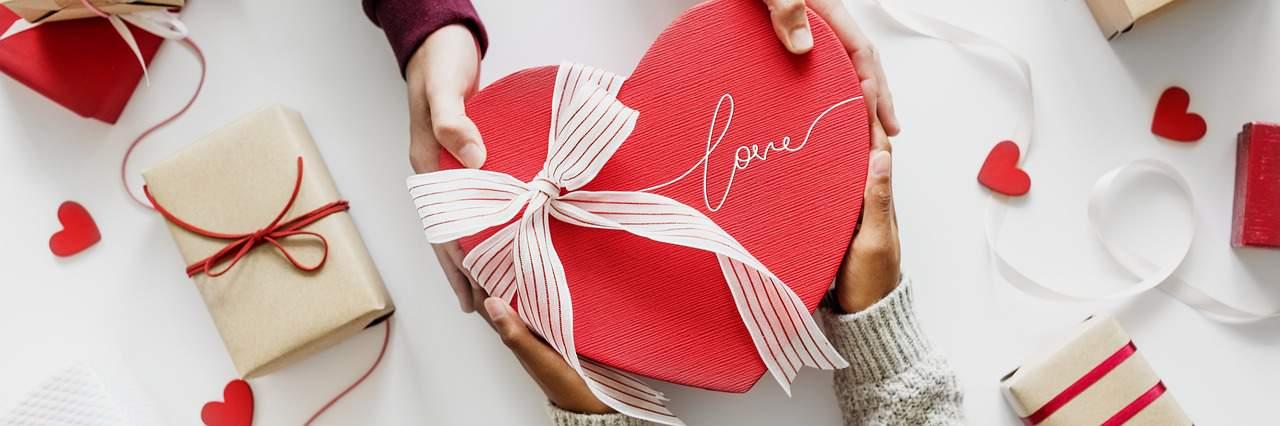 מתנה בצורת לב